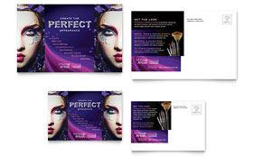 Makeup Artist - Postcard Template Design Sample