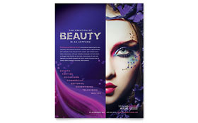 Makeup Artist - Flyer Template Design Sample