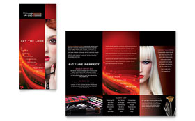 Makeup Artist - Tri Fold Brochure Template Design Sample