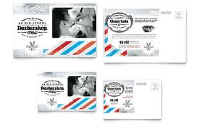 Barbershop - Postcard Template