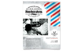 Barbershop - Leaflet Sample Template