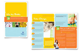 Weight Loss Clinic - Brochure Template Design Sample