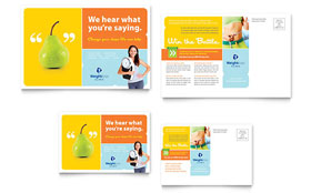 Weight Loss Clinic - Postcard Template Design Sample