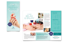Nail Technician - CorelDRAW Brochure Template