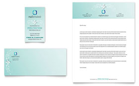 Nail Technician - Business Card & Letterhead Template