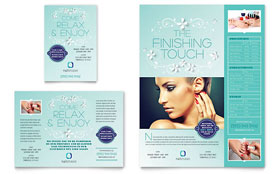 Nail Technician - Leaflet Template Design Sample