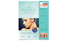 Nail Technician - Flyer Template