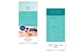 Nail Technician - Rack Card Sample Template