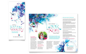 Cosmetology - Microsoft Word Brochure Template