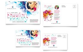Cosmetology - Postcard Template