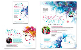 Cosmetology - Print Ad Sample Template