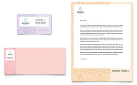 Massage - Business Card & Letterhead Template