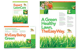 Lawn Maintenance - Flyer & Ad Template Design Sample