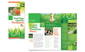 Lawn Maintenance - Microsoft Word Tri Fold Brochure Template