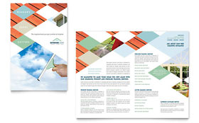 Window Cleaning & Pressure Washing - Business Marketing Brochure Template