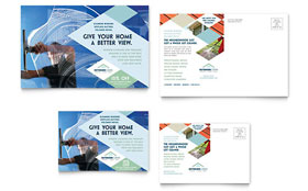 Window Cleaning & Pressure Washing - Postcard Template Design Sample