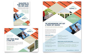 Window Cleaning & Pressure Washing - Flyer & Ad Template Design Sample