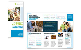 Home Inspection & Inspector - Tri Fold Brochure Template Design Sample