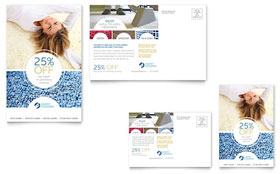 Carpet Cleaners - Postcard Template Design Sample