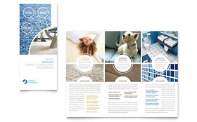 Carpet Cleaners - Microsoft Word Tri Fold Brochure Template