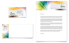 House Painting Contractor - Business Card & Letterhead Template Design Sample
