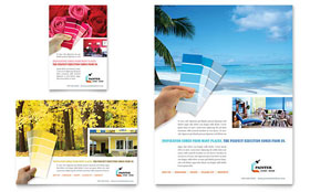 House Painting Contractor - Leaflet Sample Template