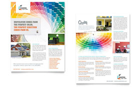 House Painting Contractor - Datasheet Template Design Sample