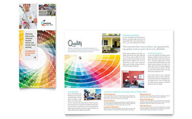 House Painting Contractor - Tri Fold Brochure Template Design Sample