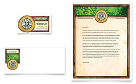Tree Service - Business Card & Letterhead Template Design Sample