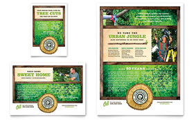Tree Service - Flyer & Ad Template Design Sample