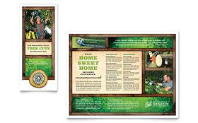 Tree Service - Adobe Illustrator Tri Fold Brochure Template