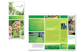 Lawn Mowing Service - Tri Fold Brochure Template Design Sample