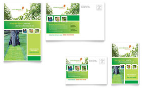 Lawn Mowing Service - Postcard Template