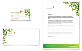 Lawn Mowing Service - Letterhead Template Design Sample