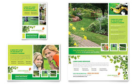Lawn Mowing Service - Flyer & Ad Template Design Sample