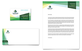 Landscaper - Business Card & Letterhead Template