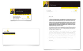 Insurance Agent - Business Card & Letterhead Template