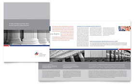 Legal & Government Services - Apple iWork Pages Brochure Template