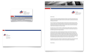 Legal & Government Services - Business Card & Letterhead Template Design Sample