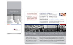 Legal & Government Services - Business Marketing Tri Fold Brochure Template