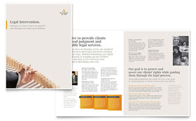 Legal Advocacy - Brochure Template
