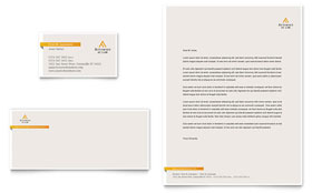 Attorney at Law - Business Card & Letterhead Template Design Sample