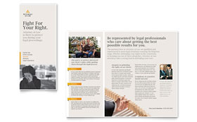 Legal Advocacy - Graphic Design Tri Fold Brochure Template