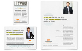 Attorney - Flyer & Ad Template Design Sample