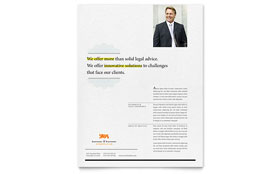 Attorney - Flyer Template