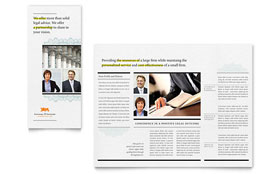 Attorney - Graphic Design Tri Fold Brochure Template