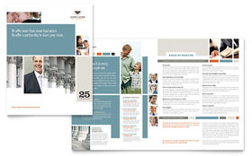 Family Law Attorneys - Microsoft Word Brochure Template