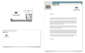 Family Law Attorneys - Letterhead Template Design Sample