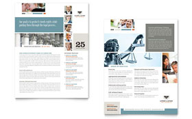 Family Law Attorneys - Sales Sheet Template Design Sample