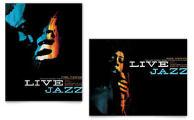 Jazz Music Event - Poster Sample Template